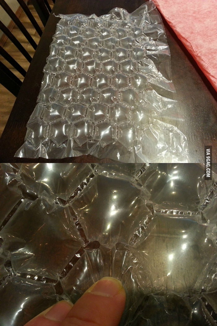 A new kind of bubble wrap which you can't pop. I was so sad.
