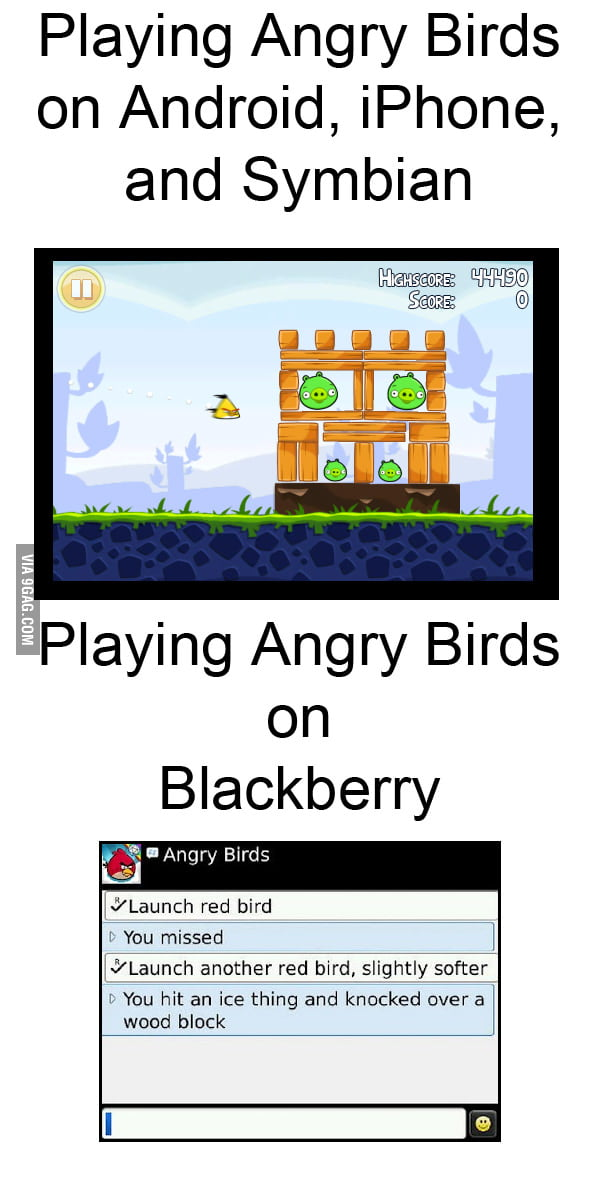 Angry birds on different OS