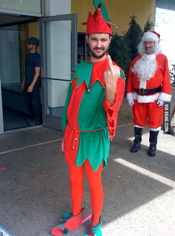 Wil Wheaton's elf sums up my holiday spirit.