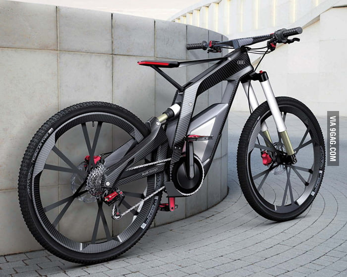 A bicycle designed by Audi.