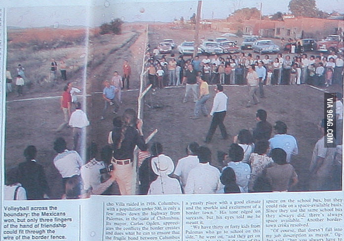 Illegal volleyball game (MX - USA 1979)