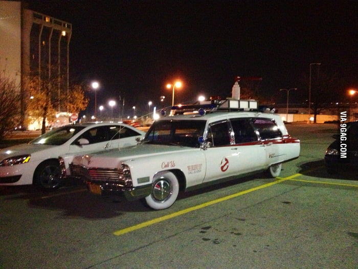 Saw Ghostbusters' car at my car park.