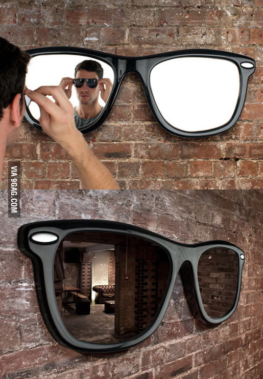 """Looking Good"" Sunglasses-shaped Wall Mirror"