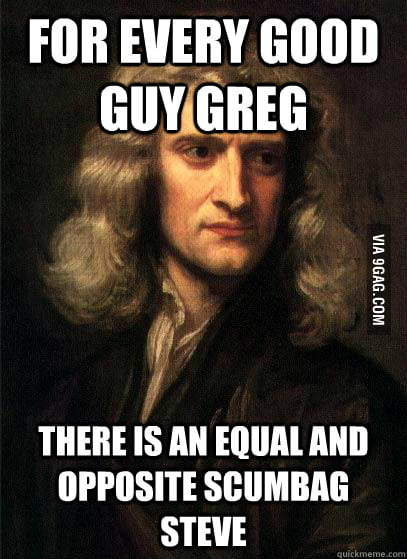 Newton's Third Law of Internet Memes.