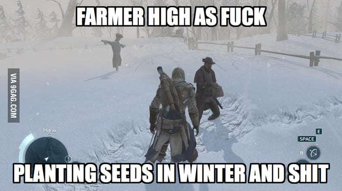 Farmer high as f**k!