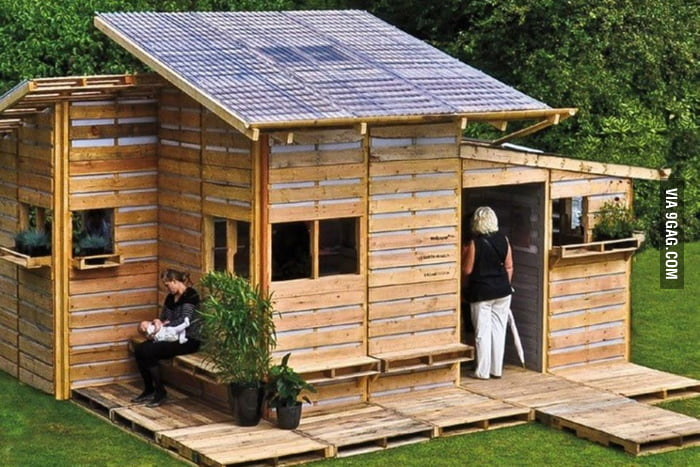 Pallet House, an emergency home that can be built in 1 day.