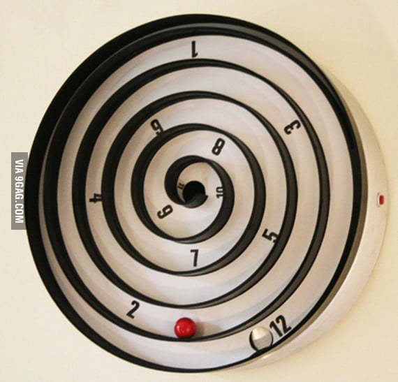 awesome spiral clock 9gag