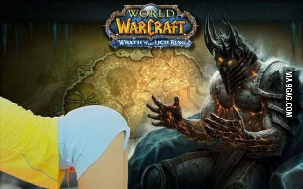 The new Lich King having some sexy lady
