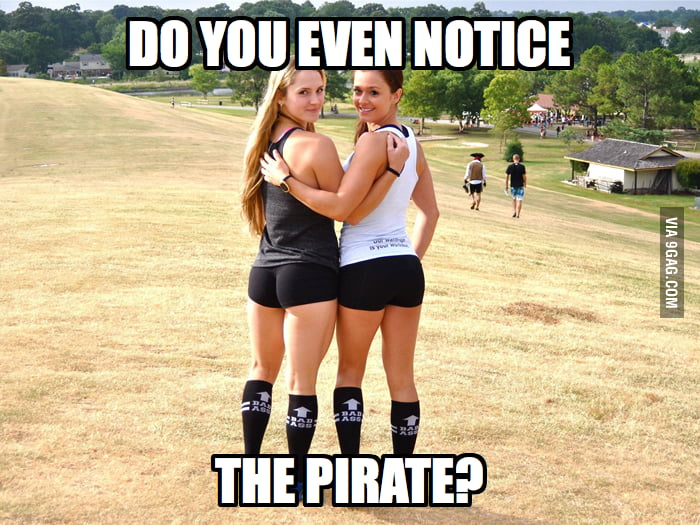 Do you even notice the pirate?