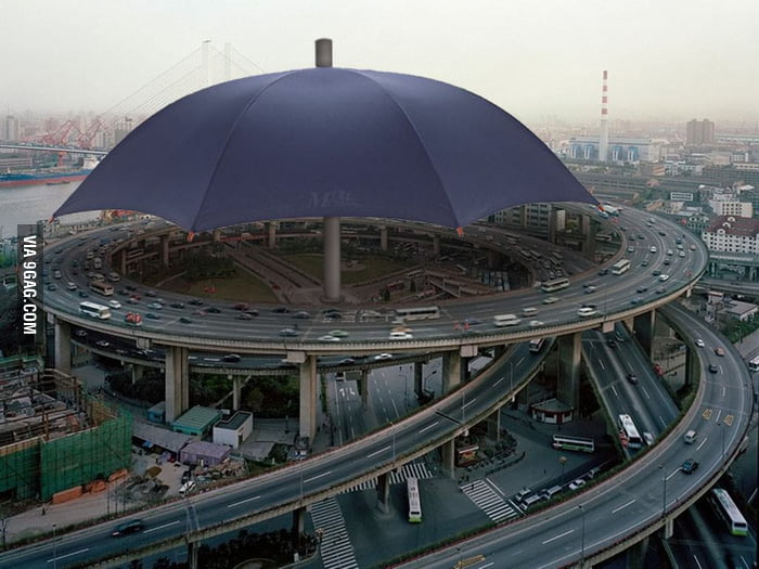 World's largest umbrella in Gansu, China.