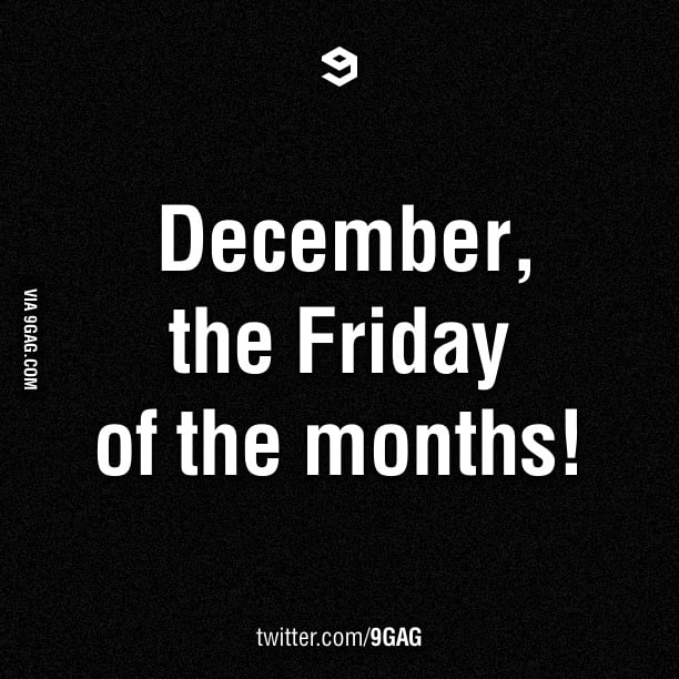 Welcome back December