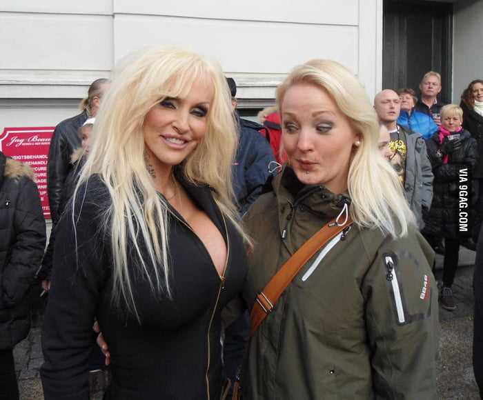 My friend met the girl in Denmark with the largest breast.