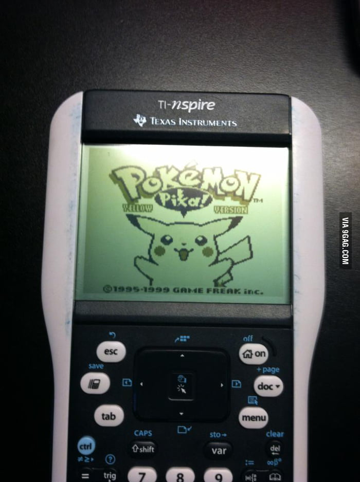 Just put the Pokemon on my calculator.