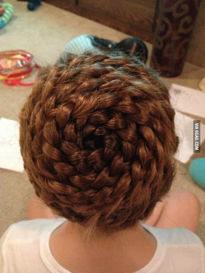 Perfectly braided head.