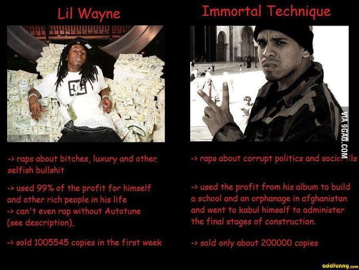 Lil Wayne vs Immortal Technique - 9GAG Immortal Meme