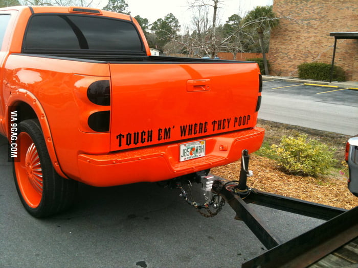 Saw an unexpected slogan on a  tow truck.