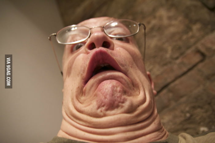 This guy has so many chins!