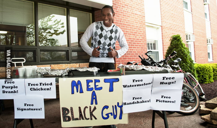 Meet a black guy!