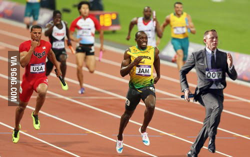 James Bond vs Usain Bolt