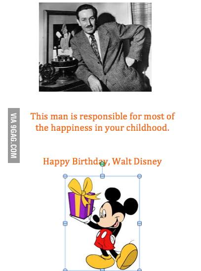 Happy Birthday, Mr. Disney