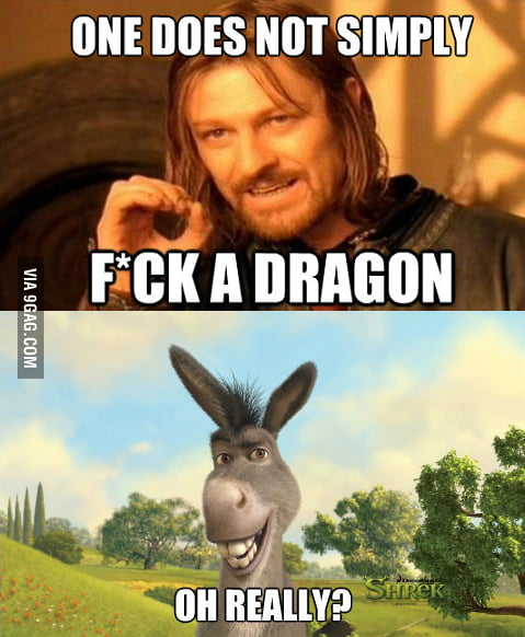 One does not simply f**k a dragon.