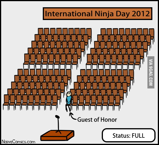 Today is the International Ninja Day!