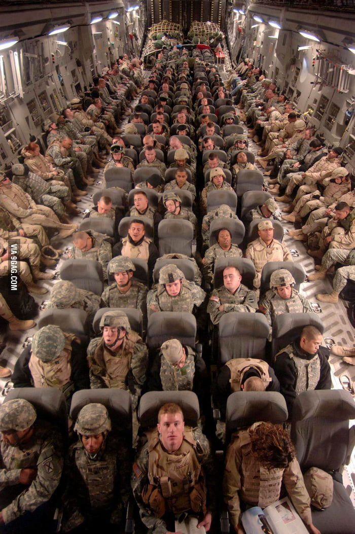 Soldiers going home.