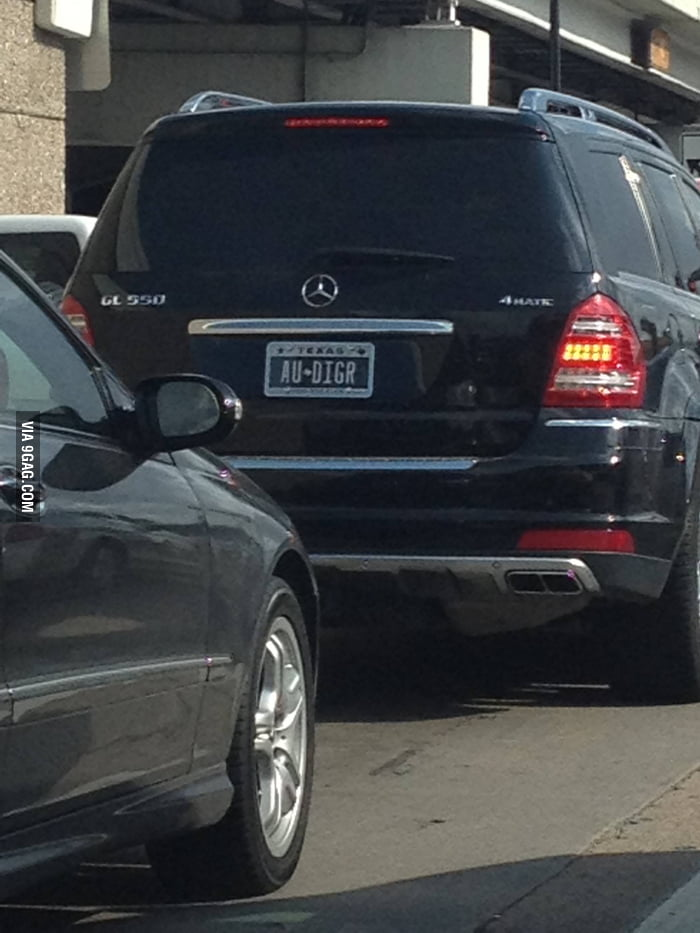 If this car owner is a woman, she has a sense of humor.