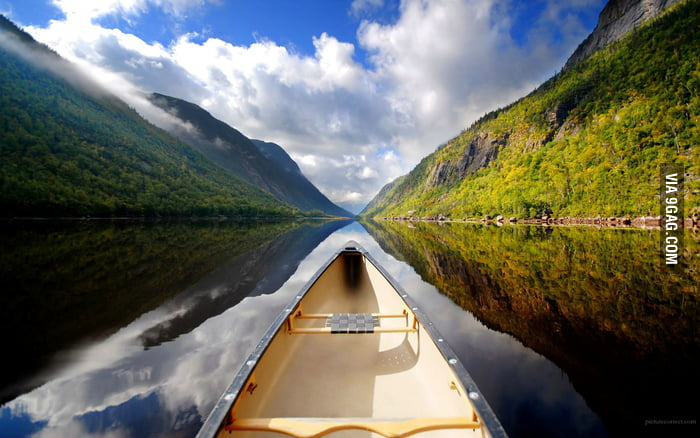A beautiful place to canoe.