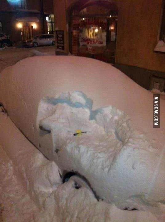 Snow doesn't help your car escape the parking ticket.