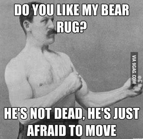 Overly Manly Rug