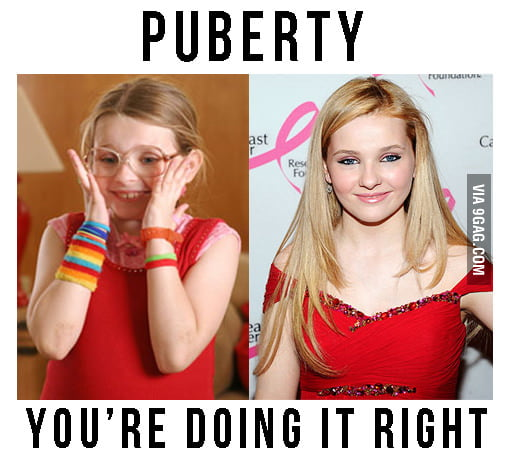 Remarkable, rather puberty doing it right