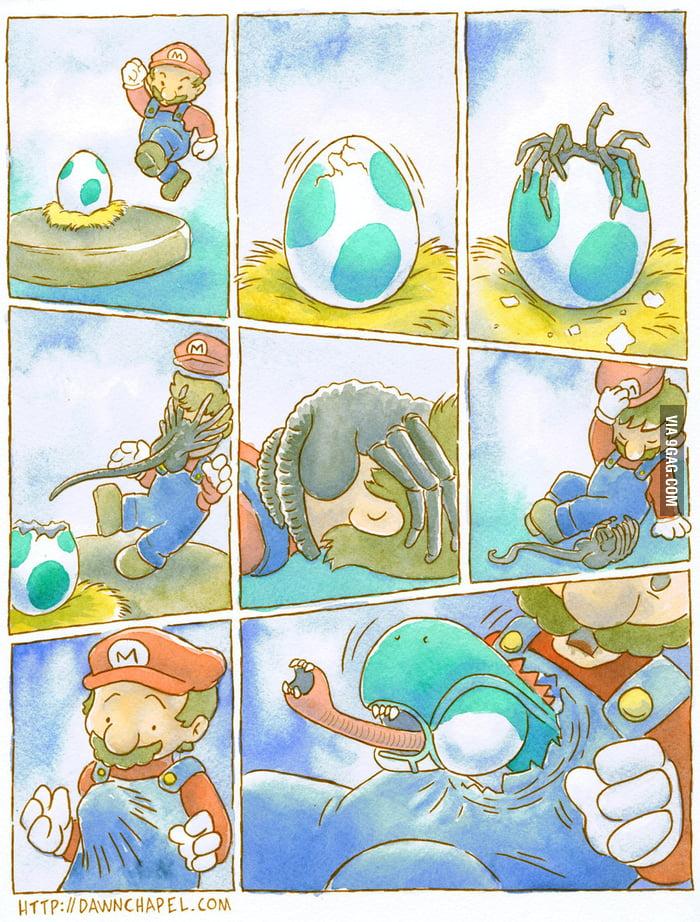 Mario x Aliens