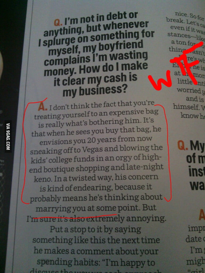 """WTF """"advice"""" from Cosmo."""