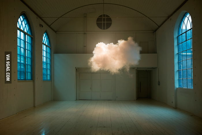 Real cloud in the middle of the room.