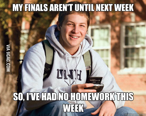 My biggest mistake as a college junior.