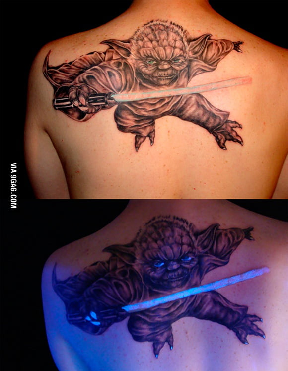 Awesome Yoda Tattoo