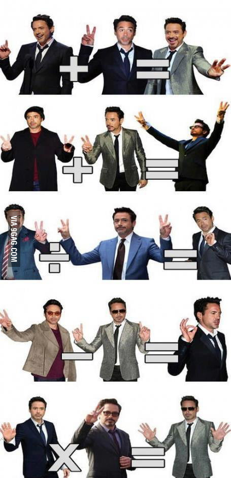 Robert Downey Jr. on Math