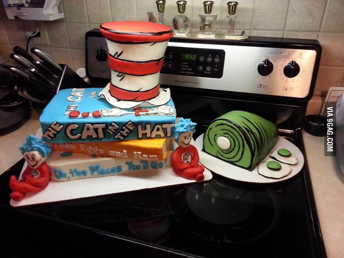 Dr. Suess cake!