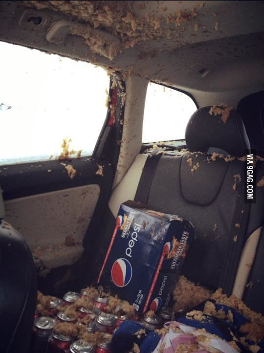 Never leave Pepsi at your car during a cold night.