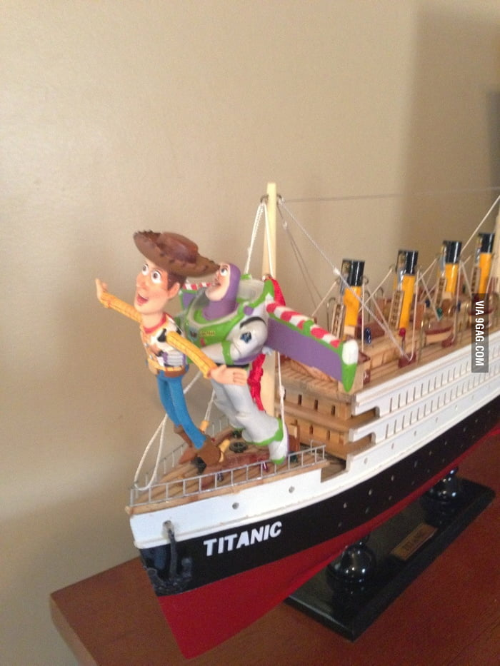 Woody and Buzz on Titanic.
