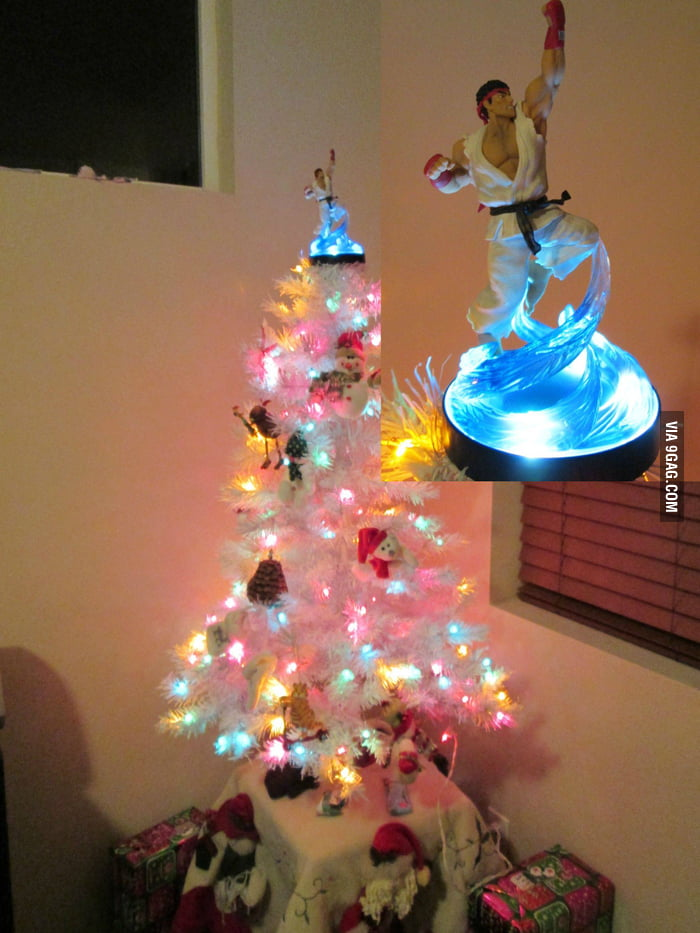 Ryu made a great tree topper!