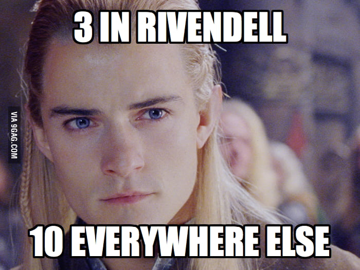 As an elf in Middle Earth.