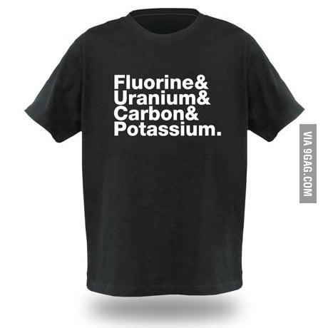 Fluorine Uranium Carbon Potassium
