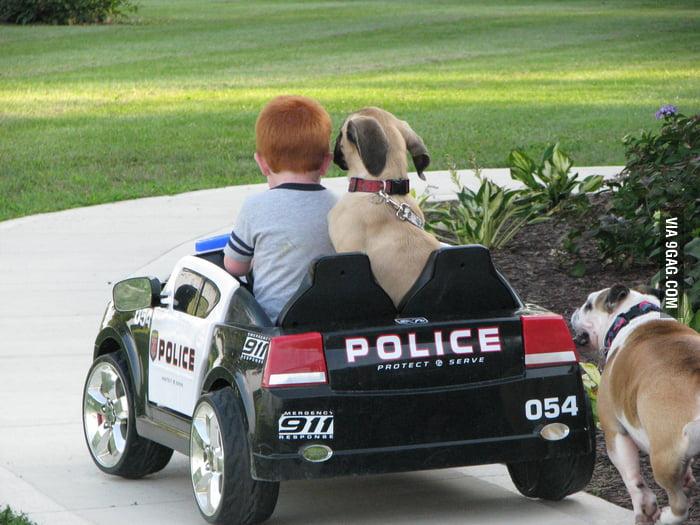 Best friends on patrol.