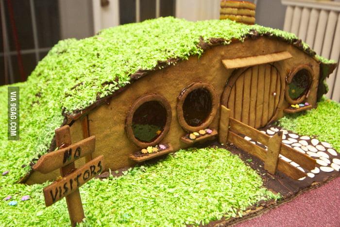 A gingerbread hobbit-hole.