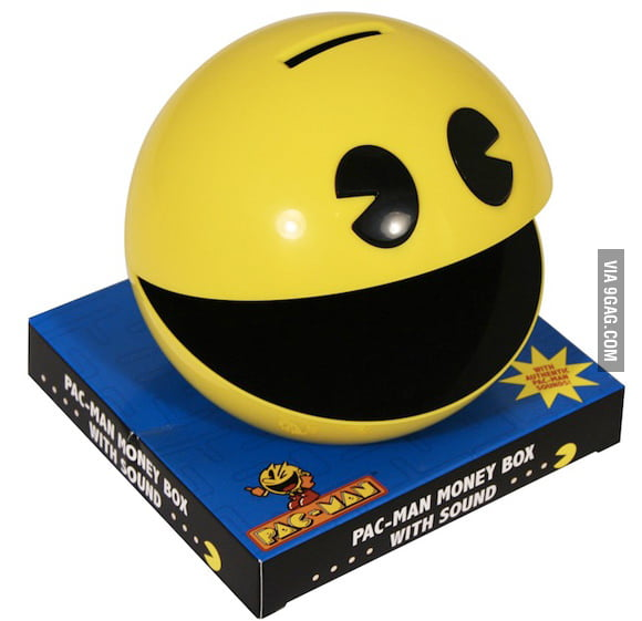 This Pac-Man doesn't eat ghosts but coins.