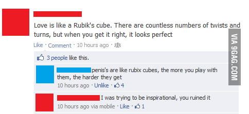 Love is like a Rubik's cube.