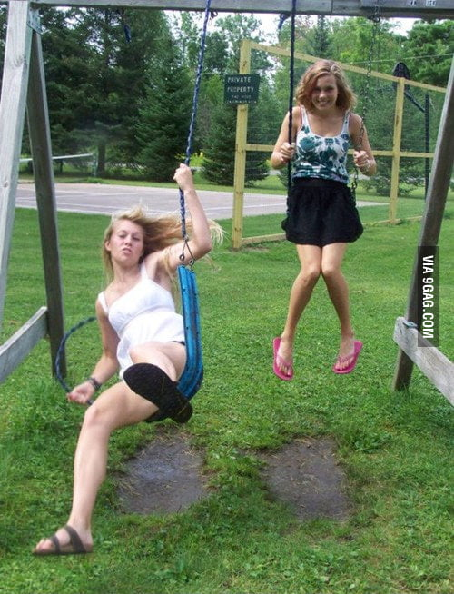 May be she is too heavy for the swing.