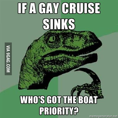 Philosoraptor on gay cruises